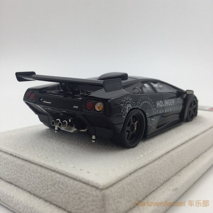 "Makeup  Lamborghini Diablo GTR ""Reiter Engineering 1999 (black ) resin scale 1:43(EM335G) available now"
