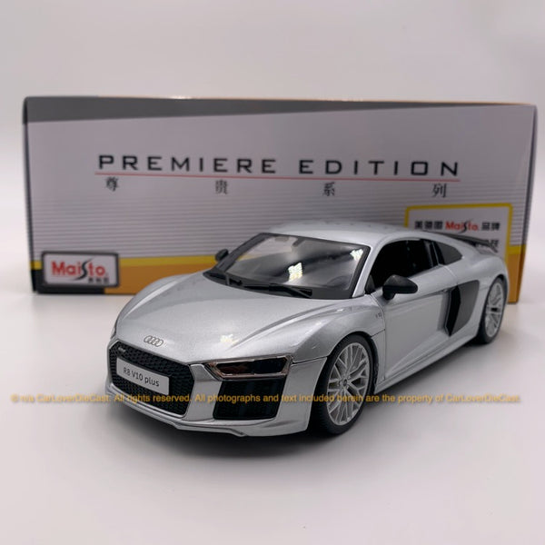 Maisto 1:18 AUDI R8 V10 Plus 10-36213 silver diecast car model
