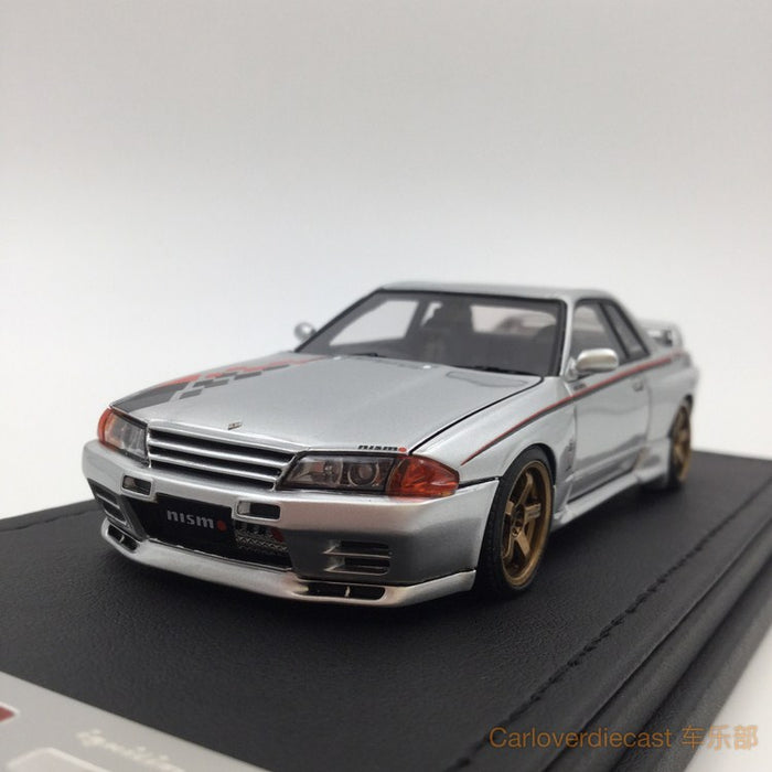 Ignition model - Nissan Skyline GT-R Nismo (R32) Silver (LMGT4 Wheel) resin scale 1:43 - IG0959