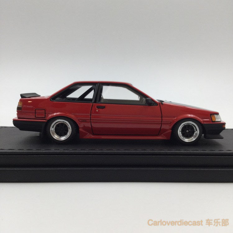 Ignition model - Toyota Corolla Levin (AE86) 2Door GT Apex Red (SSR-Wheel)  resin scale 1:43 - IG0469