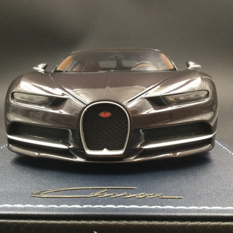 MR Collection 1:18 Bugatti Chiron (BUG06i) Brown Carbon available now