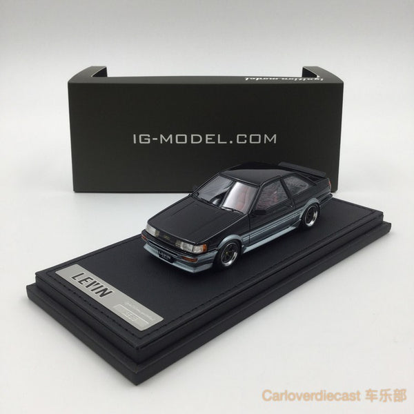 Ignition model - Toyota Corolla Levin (AE86) 2Door GT Apex Black silver (W-Wheel)  resin scale 1:43 - IG0468