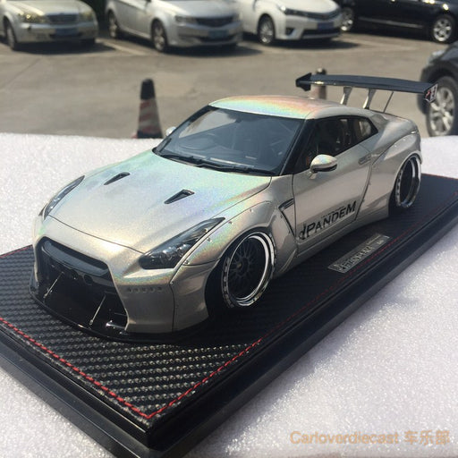 Ignition Model Nissan GTR 35 Rocket bunny GT wing (IG1381) resin scale 1:18 White chameleon color exclusive by Carloverdiecast available  now