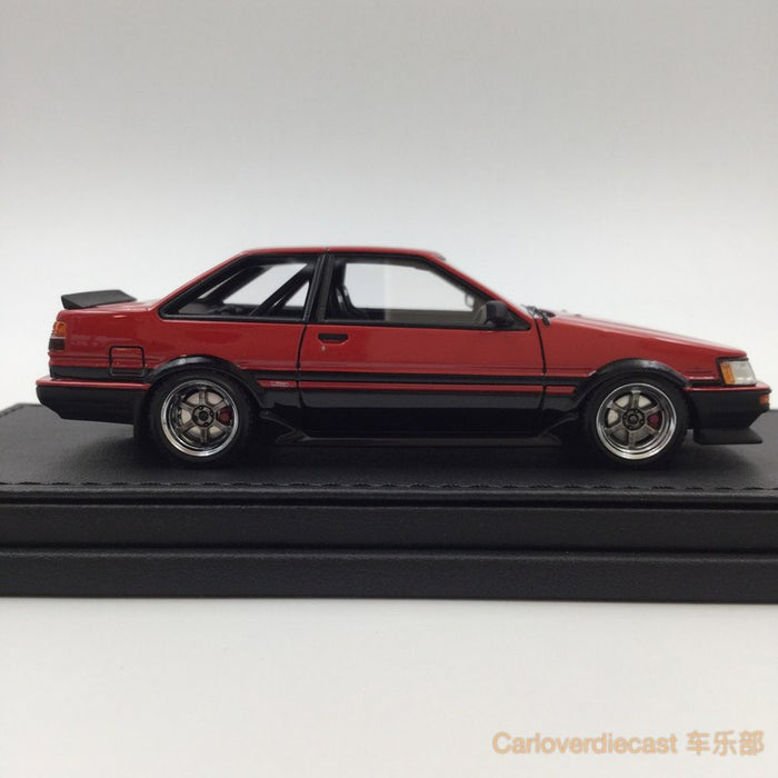 Ignition model - Toyota Corolla Levin (AE86) 2Door GT Apex Red/Black (RA-Wheel)  resin scale 1:43 - IG0467