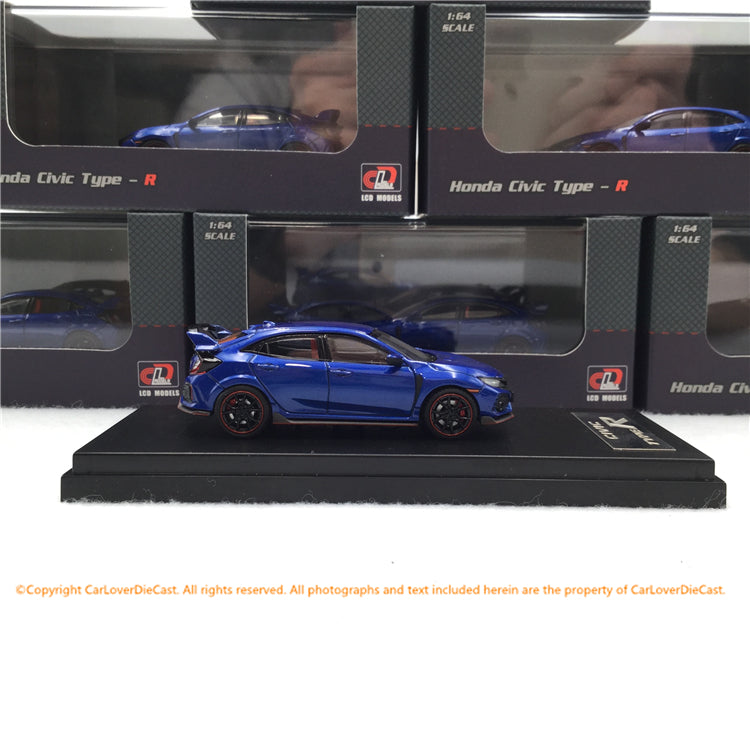 LCD 1:64 Honda Civic FK8 (Blue) diecast  car model available now LCD64003BU
