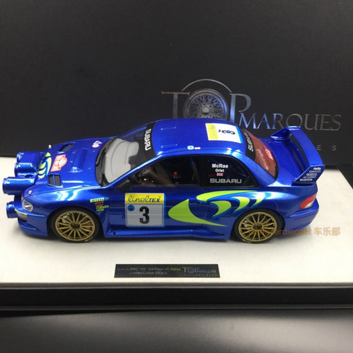Top Marques - Subaru Impreza S4 WRC #3 Monte Carlo rally 1998 resin scale 1:12 (TMR12_02A)available on end of March 2018 Pre-order now