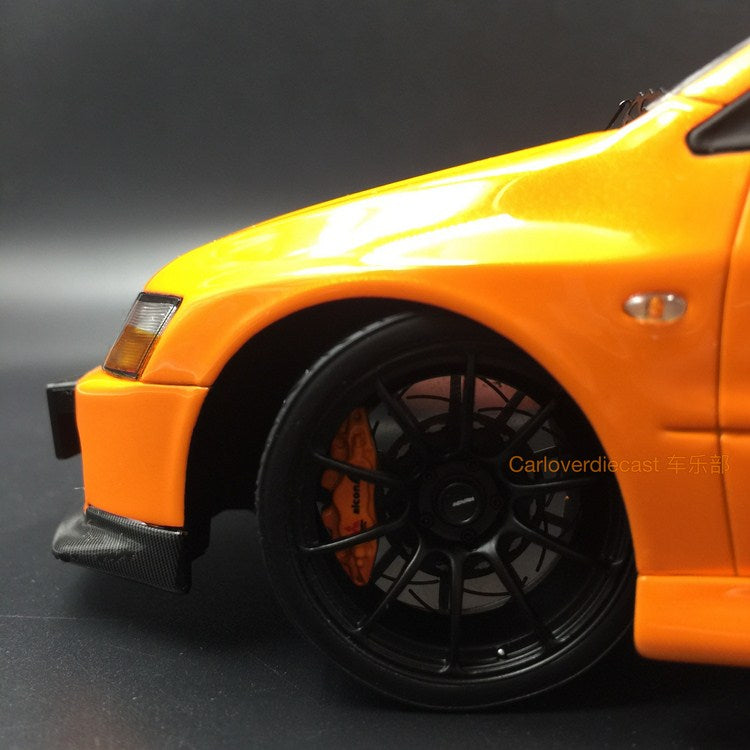 AGU Model Mitsubishi Lancer EVO IX resin scale 1:18 in (Orange  ) AGU-009CR re-production available now