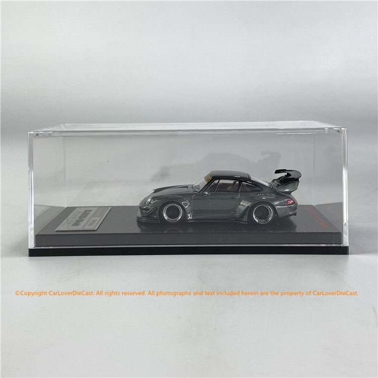 Ignition Model 1/64 RWB 993 RWB 993 China Exclusive edition Gun Metallic (IG2261) Diecast car model available now