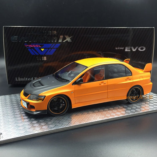 (AGU Model) Mitsubishi Lancer EVO IX resin scale 1:18 in (Orange with carbon bonnet ) AGU-010CR Limited 1000pcs available now