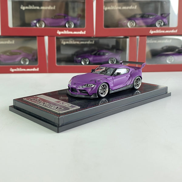 Ignition Model 1/64 PANDEM Supra (A90)  Matte Purple  (IG2335)Diecast car model available now