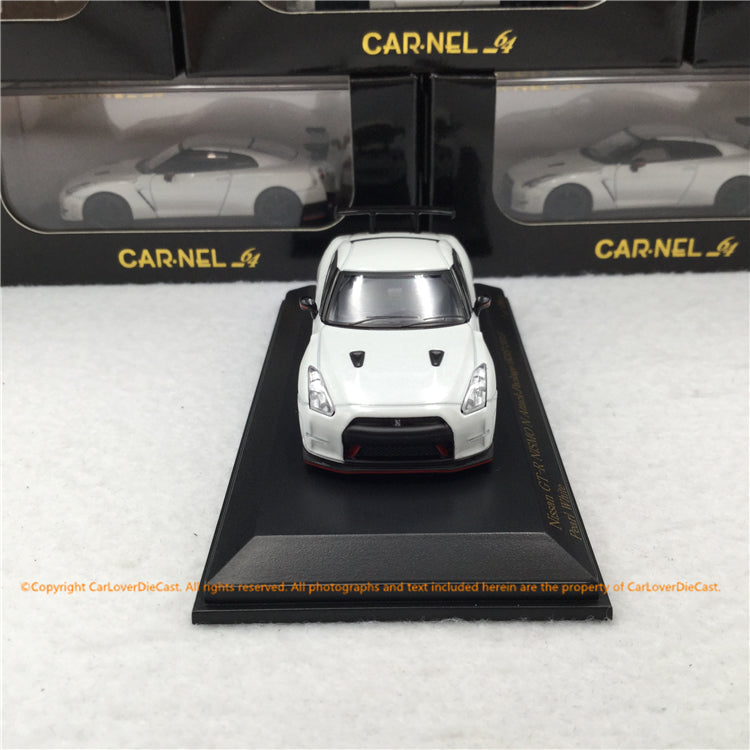 Carnel 1:64 Nissan GT-R NISMO N Attack Package (R35) 2015 Pearl  White (CN640017)  limited 999 units  diecast car model
