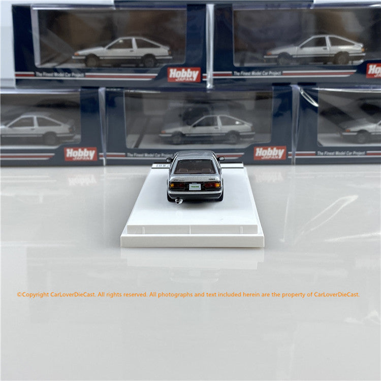 Hobby Japan 1:64 Toyota SPRINTER TRUENO GT APEX (AE86) Customized Version High Tech Two Tone (HJ641008SSK) Silver /Black  diecast car model available