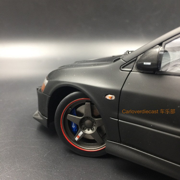 (AGU Model) Mitsubishi Lancer EVO IX resin scale 1:18 in (Mat Black with carbon) AGU-013CR re-production on Aug 2020 pre-order now