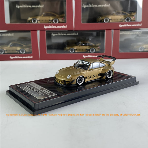 Ignition Model 1/64 RWB 993 Matte Gold  (IG2157)Diecast car model available   now