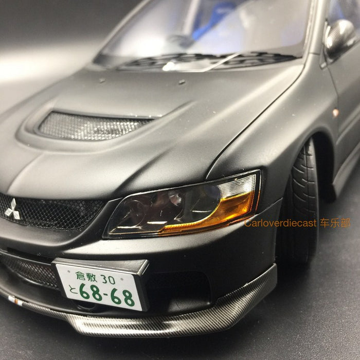 (AGU Model) Mitsubishi Lancer EVO IX resin scale 1:18 in (Mat Black with carbon) AGU-013CR Limited 600 pcs available now