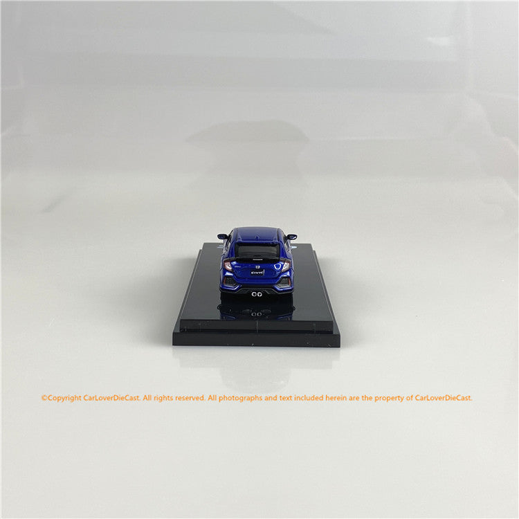 Hobby Japan1/64   Honda CIVIC HB (FK7)改 Blue Metallic  (HJ641018BBL) diecast car model