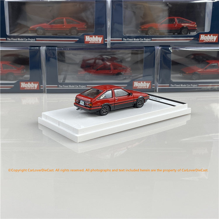 Hobby Japan 1:64 Toyota SPRINTER TRUENO GT APEX (AE86) Customized Version High Tech Two Tone (HJ641008SRK) Red /Black  diecast car model available