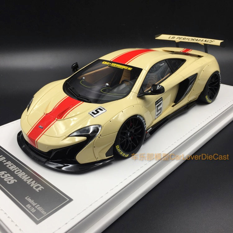 J's Models - Lb Works 650S resin Scale 1:18 (Biege with red Strip leather based) Limited edition 30  available now