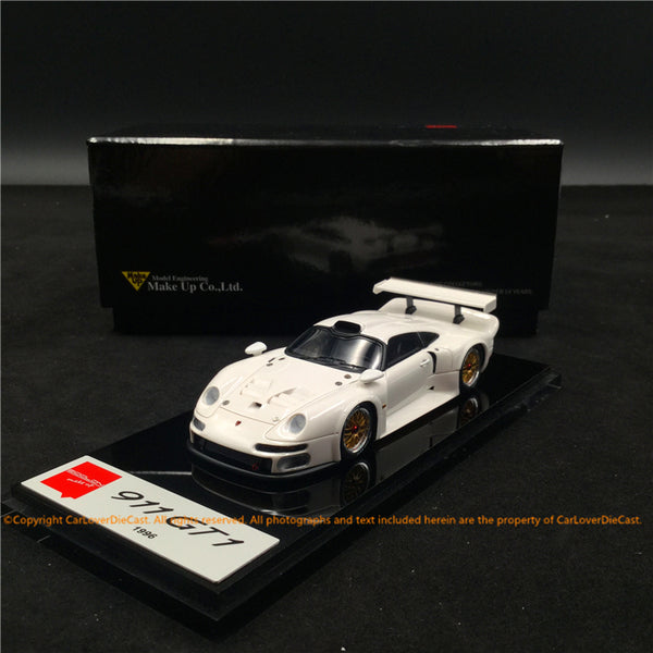 Makeup 1:43 Porsche 911 GT1 1996 White (EM328C) resin car model available now