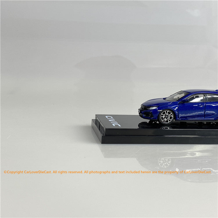 Hobby Japan1/64   Honda CIVIC HB (FK7) Blue Metallic  (HJ641018ABL) diecast car model