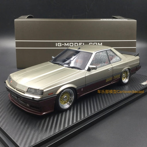 Ignition Model 1:18 Nissan Skyline 2000 RS-X Turbo-C (R30) Silver/Red resin model (IG0993) free display cover