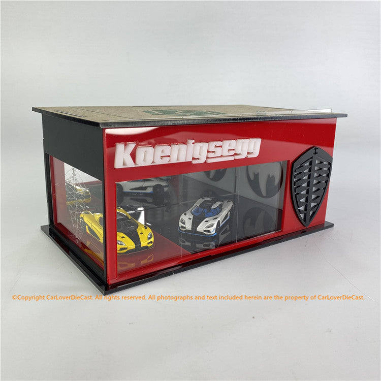 G.FANS 1:64 Diorama Koenigsegg Cars Exhibition Museum  (710001) available Now