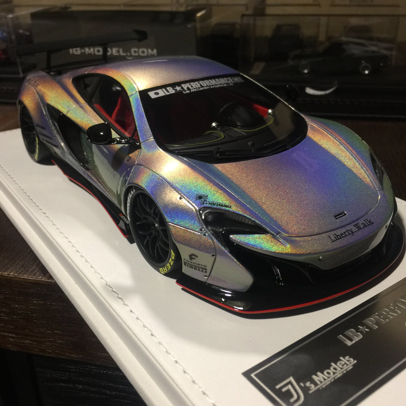 J's Models - Lb Works 650S resin Scale 1:18 (White Chameleon leather based)(J001-BW) Limited edition 40 available now