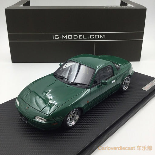 Ignition model - Eunos Roadster (NA)Green (W-Wheel) resin scale 1:18 (IG0666) free display cover