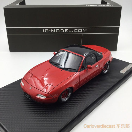 Ignition model - Eunos Roadster (NA) Red (EQ-Wheel) resin scale 1:18 (IG0667)