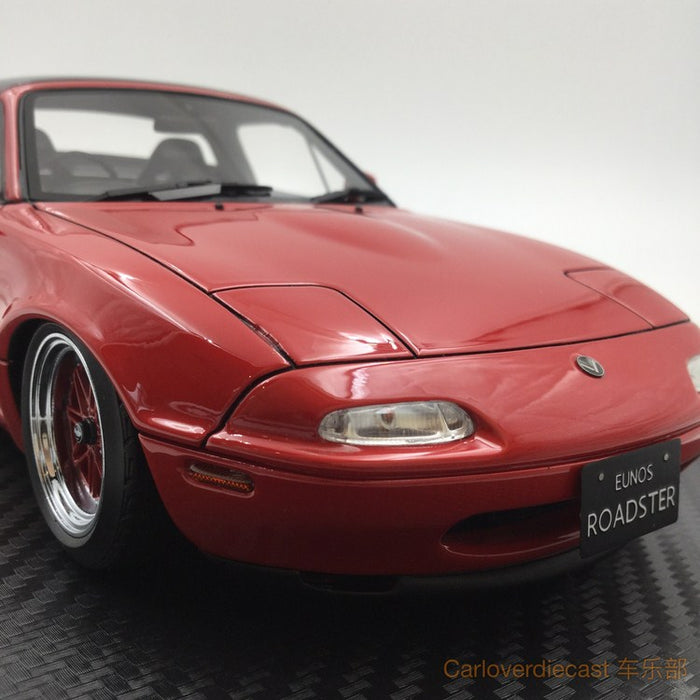 Ignition model - Eunos Roadster (NA) Red (EQ-Wheel) resin scale 1:18 (IG0667) free display cover