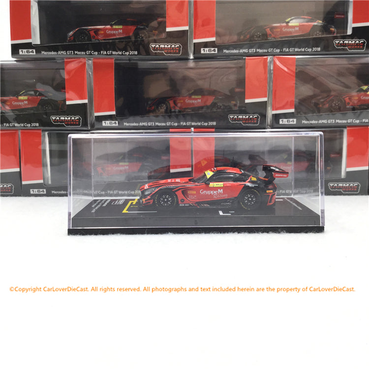 Tarmac Works 1:64 Mercedes-AMG GT3 Macau GT Cup - FIA GT World Cup 2018  2nd Maro Engel *Macau Grand Prix 2019 Special Edition(T64-008-18MGP888) diecast car model
