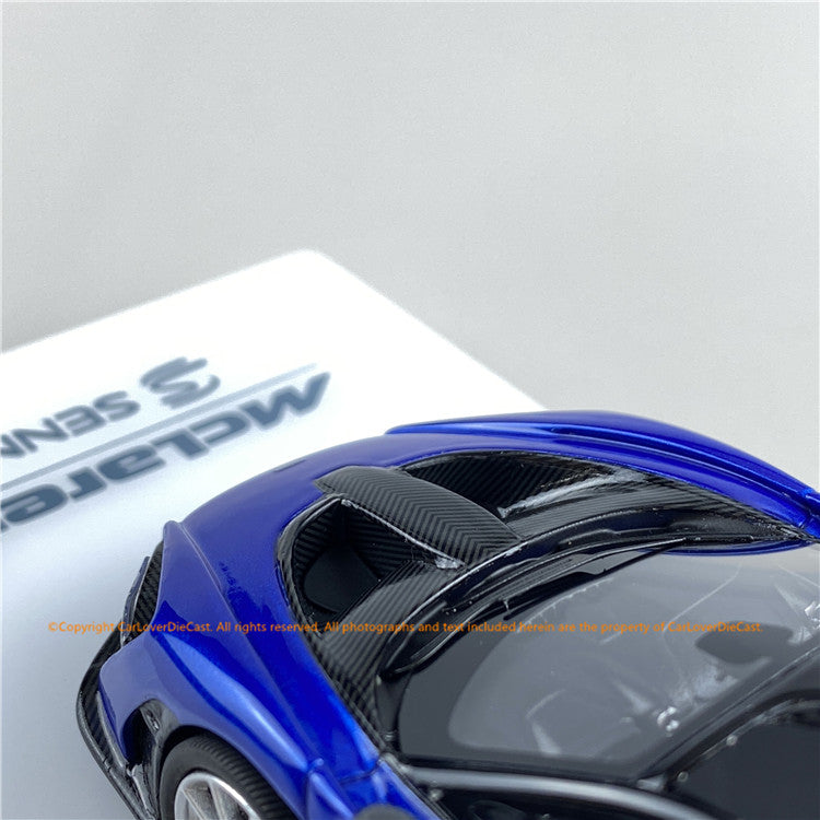 TSM 1:43 McLaren Senna  Antares Blue (TSM430421) resin car model available
