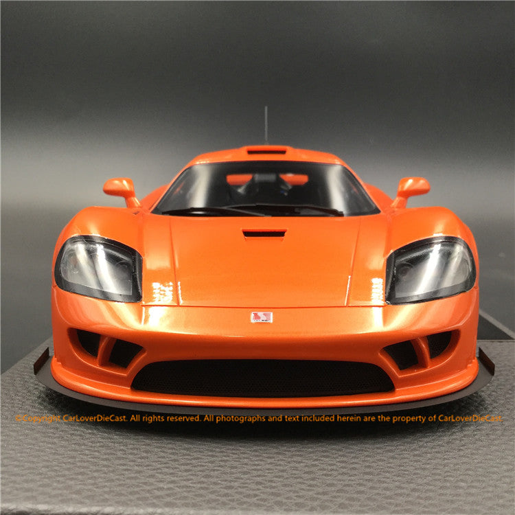 Top Marques - Saleen S7 in Orange resin scale 1:18 (TOP53B) available now