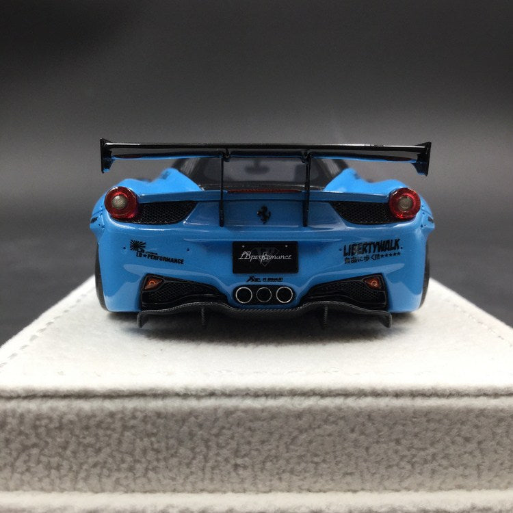 "Fuelme 1:43 Liberty Walk 458 ""Sky Blue"" GT Tail resin model (FM43005LM-C ) available now"