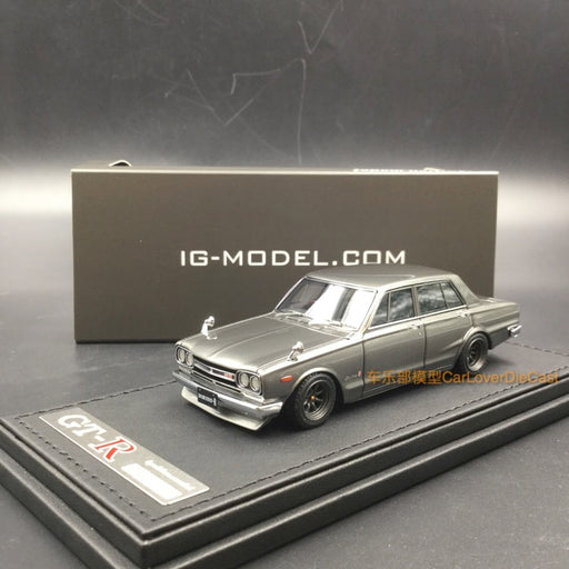 Ignition Model 1:43 Nissan Skyline 2000 GT-X (GC110) Silver (Watanabe-Wheel) resin model (IG1595)