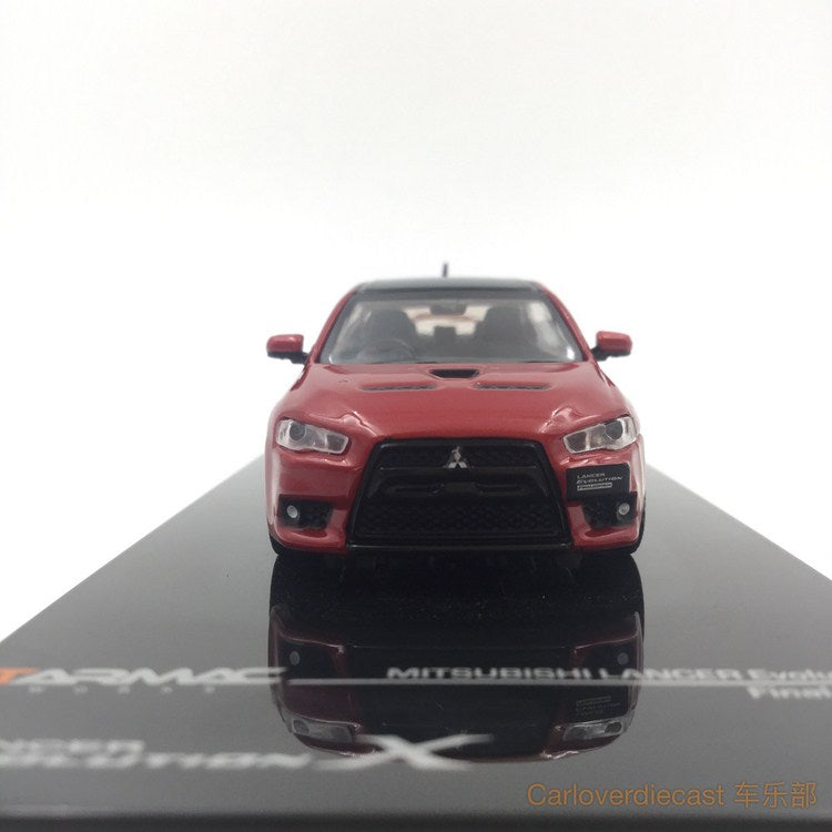 (Tarmac Works) Mitsubishi Evo X Final Edition - Rally Red diecast scale 1:64 (T64-004-RE)