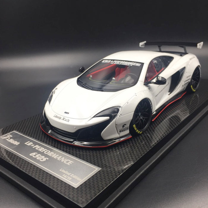 J's Models - Lb Works 650S resin Scale 1:18 (Glossy White) Limited edition 18 units with carbon based