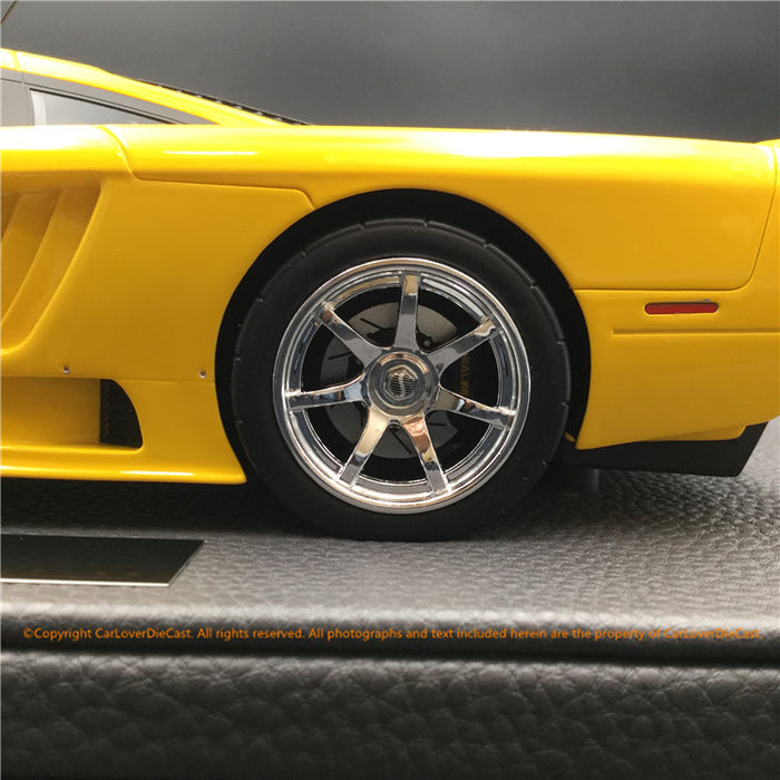 Top Marques - Saleen S7 in Yellow resin scale 1:18 (TOP53D) available Now