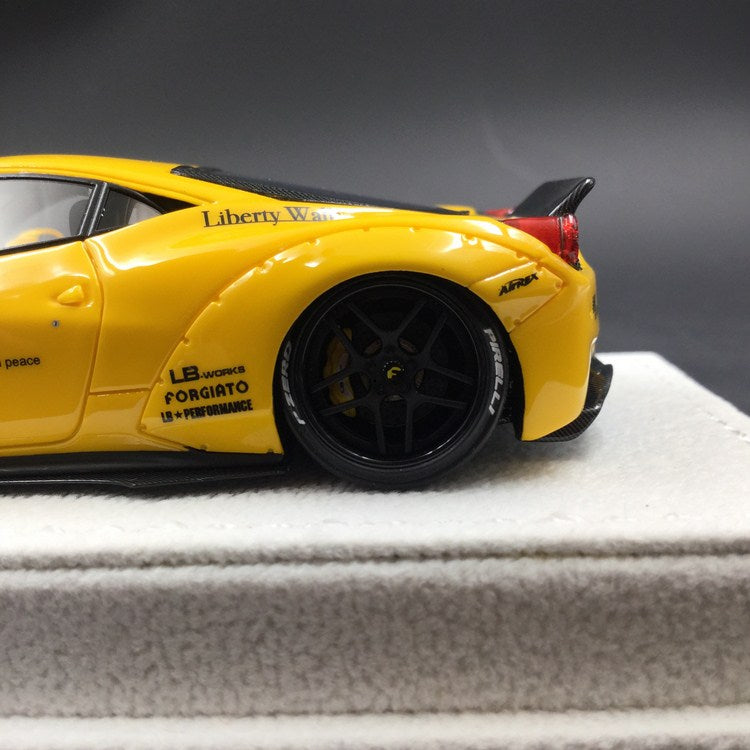 "Fuelme 1:43 Liberty Walk 458 ""Modena Yellow"" duck Tail (FM43005LM-B-03) available now"