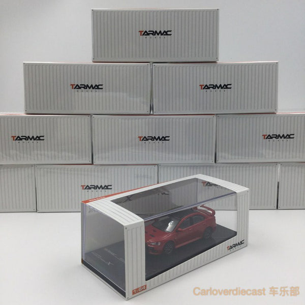 (Tarmac-Werke) Mitsubishi Evo X Final Edition - Rally Red Diecast Maßstab 1:64 (T64-004-RE)