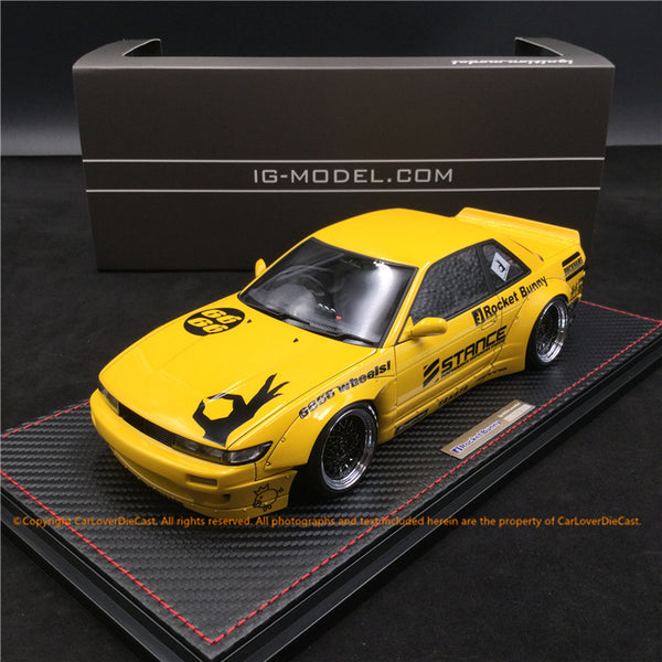 Ignition Model 1:18 Rocket Bunny S13 V2 yellow (IG1135) resin car model available  now