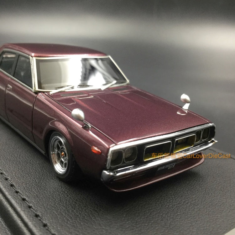 Ignition Model 1:43 Nissan Skyline 2000 GT-X (GC110) Purple (WO-Wheel) resin model (IG1574)