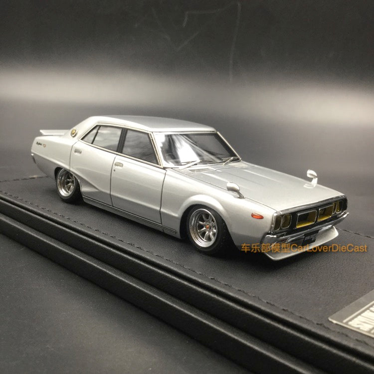 Ignition Model 1:43 Nissan Skyline 2000 GT-X (GC110) Silver (WO-Wheel) resin model (IG1573)