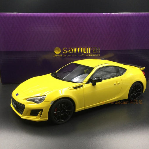 Kyosho Samuari Subaru BRZ resin scale 1:18 yellow (KSR18027Y-B) Limited 400pcs available now