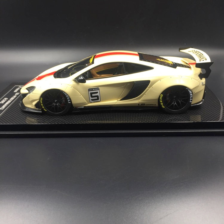 J's Models - Lb Works 650S resin Scale 1:18 (Biege with red Strip carbon based) Limited edition 15 units available now