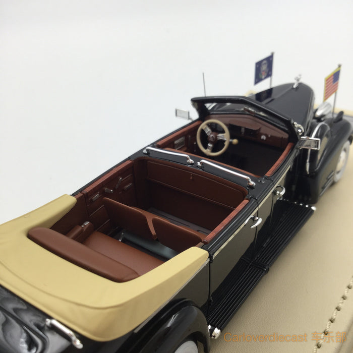"TSM-Model - Cadillac 1938 Series 90 V16 Presidential Limousine ""Queen Mary "" Resin scale 1:43 (TSMCE154303)"