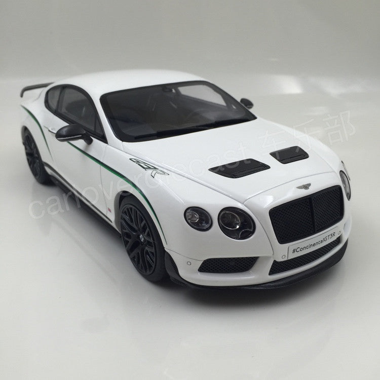(GT Spirit) Bentley Continental GT3-R  Resin Scale 1/18 Model By GT Spirit (GT121 )solid white  Limited 1500 units available  now