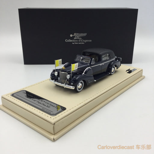 "TSM-Model - Cadillac 1938 Series 90 V16 Town Car Vatican ""V-16"" Pope Plus XII Resin scale 1:43 (TSMCE154304)"