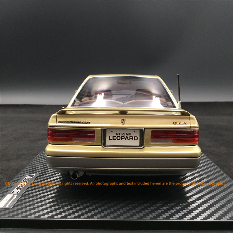 Ignition Model 1:18 Nissan Leopard (F31) Ultima V30 TWINCAM TURBO  Gold/Silver ※BB-Wheel resin model (IG1557) available  now