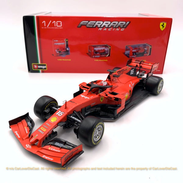 Bbruago 1:18 SF90 (#16 Charles Leclerc)(Dull Red) 18-16807(#16) diecast car model